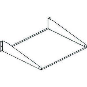 Chatsworth 40750-719 Single-Sided Shelf, Steel, Black
