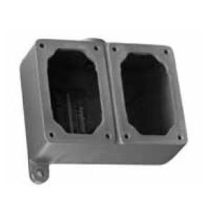 "Appleton EFDC250-NL-Q Mounting Body, EFD Type, 1/2"", 2-Gang, Feed-Thru, Malleable Iron"