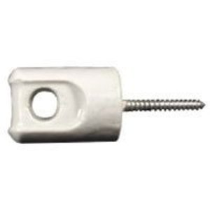 "PPC Insulators P8930 Wireholder, Screw Type, Eye Bolt, Length 3-3/32"", Porcelain"
