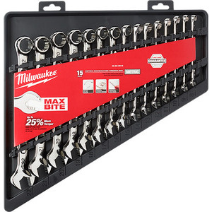 Milwaukee 48-22-9515 15pc Combination Wrench Set - Metric