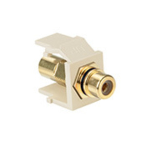 40830BTY SNAP IN RCA MOD YELLOW STRIP