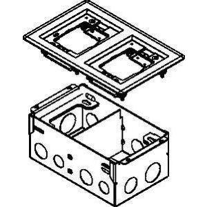 Wiremold 880W2828TCAL 880w Box W/2 Gang Alum Flange