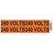 HellermannTyton 596-00935 Voltage Marker, 240V, Orange, 4/Card