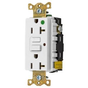 Hubbell-Wiring Kellems GFR8300HWLU 20A 125V HG WHITE
