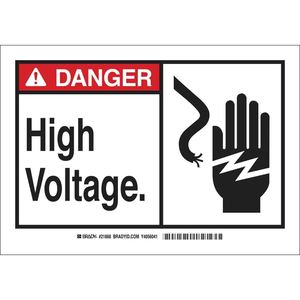 26593 B401 10X14 ANSI BLK,RED/WHT HI V,