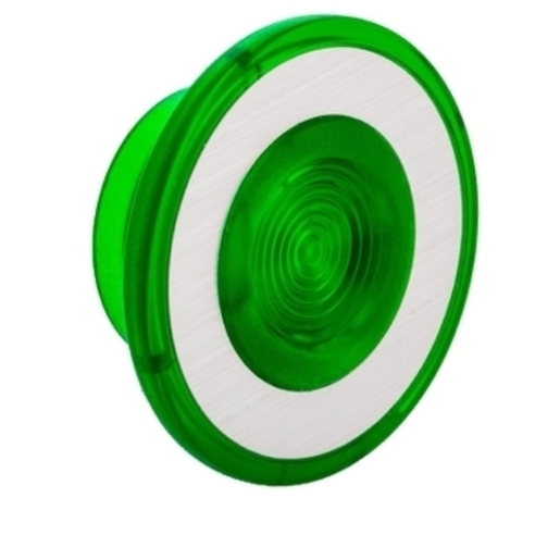 9001G22 30MM MUSHROOM FOR ILLUM PB GREEN