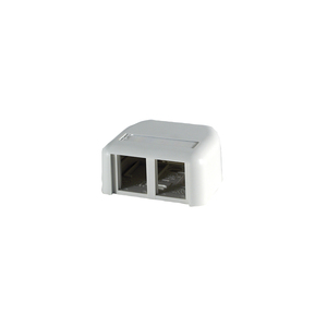 Ortronics 404TJ2-88 Cloud White TracJack Surface Mount Housing 2Port