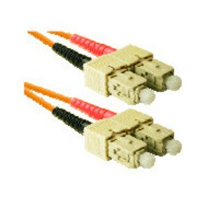 CP Technologies SC2-03-10GIG-AQ Fiber Patch Cord, SC to SC, Duplex, 62.5, Multimode, 3 Meters, 10 GIG
