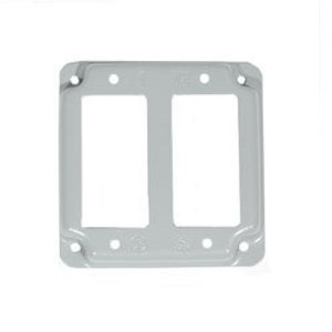 Mulberry Metal 11433 4-IN.SQ.2 GFCI COVER