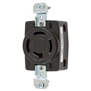 Hubbell-Wiring Kellems HBL7410BG LKG RCPT, 3P4W, 20A 3PH 250V, BK