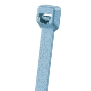 "Panduit PLT1M-C86 Cable Tie, Miniature, 3.9"", Polypropylene, Light Blue"