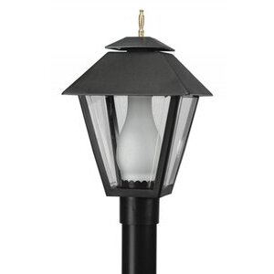 Wave Lighting 112 Colonial Post Top w/Glass Chimney, Black