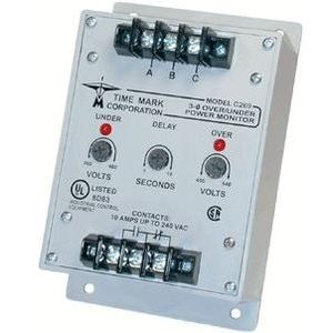 Time Mark C269 Power Monitor, 3-PH, 480VAC Input, 400-540/380-460VAC, 6W