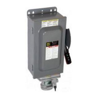Square D HU363AWA Disconnect Switch, Non-Fused, NEMA 12K, 100A, 3P, 600VAC, Heavy Duty