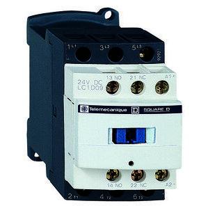 Square D LC1D09BD Contactor, Definite Purpose, 9A, 3P, 600VAC, 300VDC, 24VDC Coil