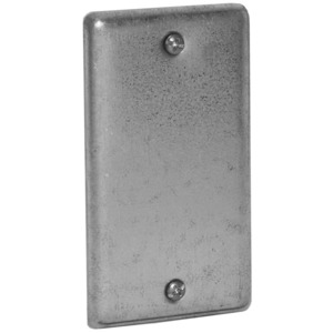 Hubbell-Raco 860 Handy Box Cover, Type: Blank, Drawn, Metallic