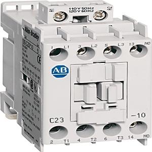 Allen-Bradley 100-C23C10 Contactor, IEC, 23A, 3P, 550/600VAC Coil, 1NO