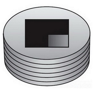 "OZ Gedney PLG50R Close-Up Plug, Square Head, 1/2"", Explosionproof, Steel"