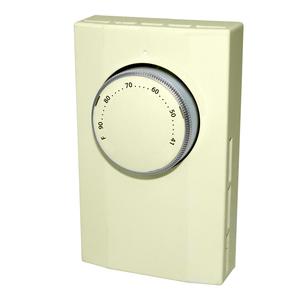 King Electrical K101A Thermostat, 1-Pole, 22A, 120-277V, Almond