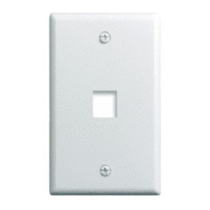 ON-Q WP3401-WH Wallplate, 1-Gang, 1-Port, White