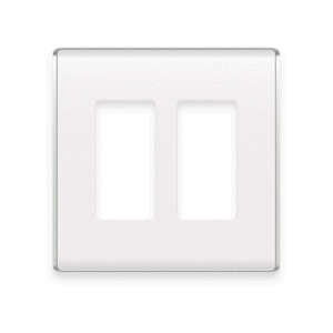 ON-Q WP5002-WH Studio Wallplate, 2-Gang, White *** Discontinued ***