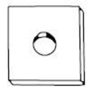 """Kindorf H-119-D Square Washer, Size: 1/2"""", Steel/Galvanized"""
