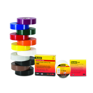 "3M 130C-1-1/2X30FT Linerless Rubber Splicing Tape, 1-1/2"" x 30'"