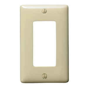 Hubbell-Bryant NP26I Decora Wallplate, 1-Gang, Nylon, Ivory