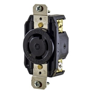 Hubbell-Kellems L1630R Locking Single Receptacle, 30A, 3PH 480V, 3P4W