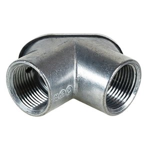"Dottie PE1 Pulling Elbow, Threaded, 1/2"", Zinc Alloy"