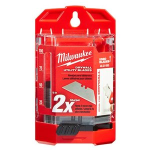 Milwaukee 48-22-1953 Drywall Utility Knife Blades w/ Dispenser