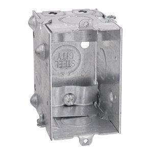 "Steel City LXWLE-25 Gangable Switch Box, 3""L x 2""W x 2-1/2""D, Steel"