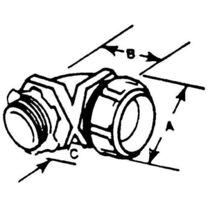 Thomas & Betts 5358-SG 2 1/2 INS LIQUID TIGHT FIT W/SEAL G