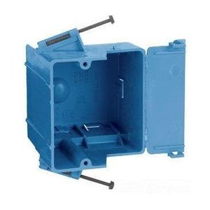 "Thomas & Betts RD-30 Switch/Outlet Box, 1-Gang, Depth: 3-5/8"", Nail-On, Non-Metallic"