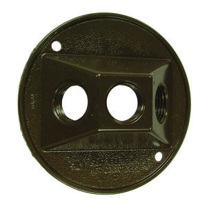 "Hubbell-Raco 5197-7 1/2"" Outlet, 4"" Diameter, Weatherproof Cover"