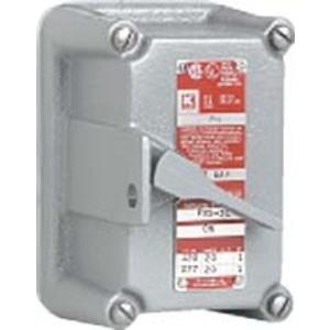 Hubbell-Killark FXS-2C Tumbl Switch Cvr 2p 20a