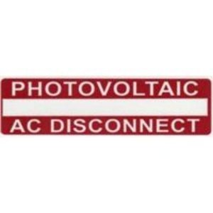 HellermannTyton 596-00237 Photovoltaic AC Disconnect Labels