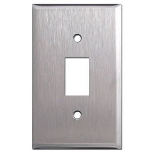 GE RP2-116 Wallplate/RPW Low Voltage Switch, 1-Gang, (1) Switch, Stainless Steel