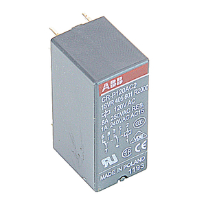 ABB 1SVR405601R2000 Interface Relay, Plug-In, 8A, SPDT, 250VAC Rated, 120VAC Coil