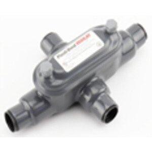 "Plasti-Bond PRHX448 Conduit Body, Type: X, FM8, Size: 1-1/4"", PVC Coated Iron"