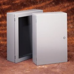 "Eaton B-Line 1612SCF Flush/Screw Cover, NEMA 1, 16"" x 12"", Steel/Gray Powder Coat"
