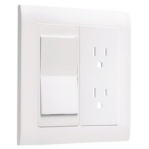 Hubbell-TayMac A2000W ALLURE® 2 -Gang Wallplate, White