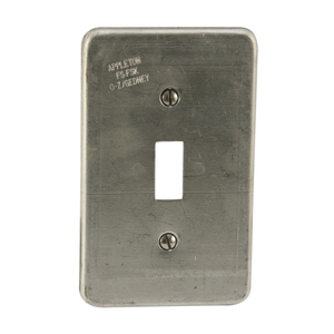 Appleton FSK-1TS-A Toggle Switch Cover, 1-Gang, Aluminum