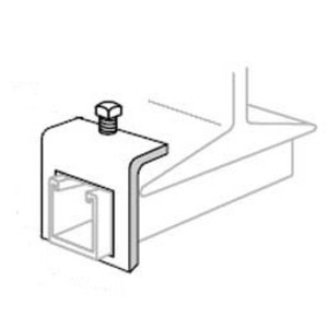 Superstrut A597 Beam Clamp, Type: Channel to Beam, Steel/Gold Galvanized