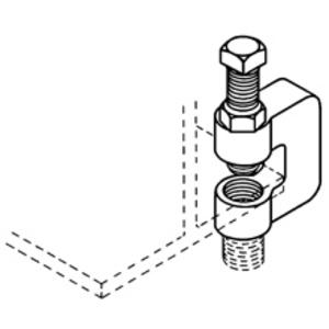 "Eaton B-Line B3036L-1/2ZN C-CLAMP, WITH LOCKNUT, 3/4"" MAX FLANGE, 1/2""-13, ZINC PLATED"