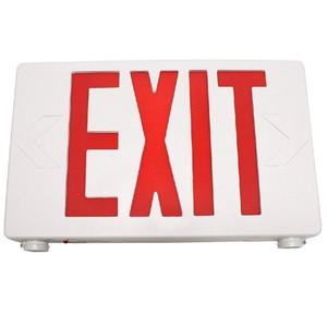 TCP 20684 LED Exit Sign Red Letters 2 Head