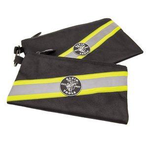 Klein 55599 Zipper Bags, High Visibility Tool Pouches, 2-Pack