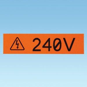 """Panduit T038X000VYC-WH P1Cass,Cont.Tape,WH/BL,Vyl,.38""""x25ft,EA"""