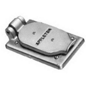 Appleton FSK-1VDR-A Duplex Receptacle Cover, 1-Gang, Aluminum