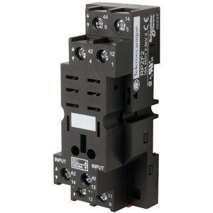 Square D RPZF2 Relay Plug-In, Socket, 8 Blade, for RPM2 Relays